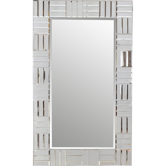 Silver Frame Accent Mirror Pertaining To Silver Frame Accent Mirrors (#18 of 20)