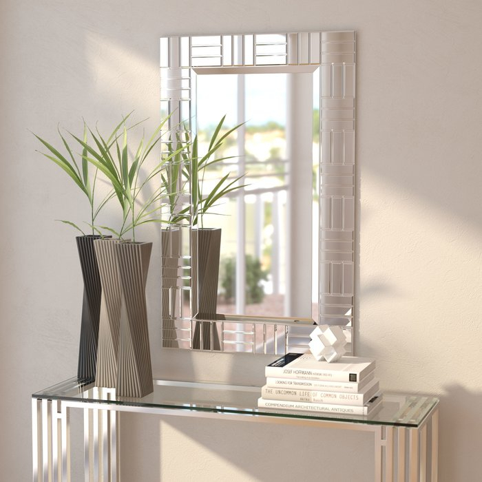 Silver Frame Accent Mirror With Silver Frame Accent Mirrors (#20 of 20)