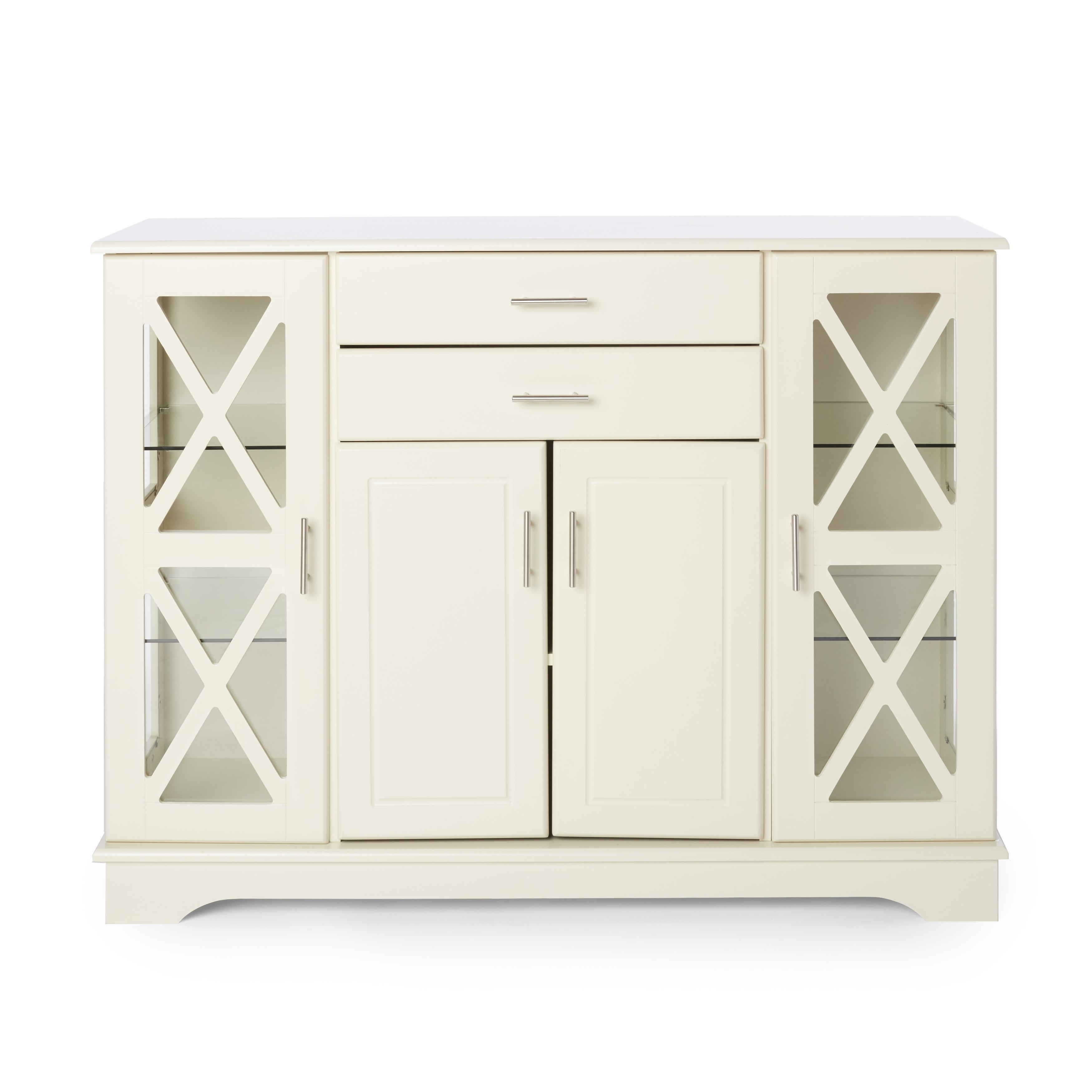 Simple Living Antique White Kendall Buffet Intended For Recent Kendall Sideboards (View 7 of 20)