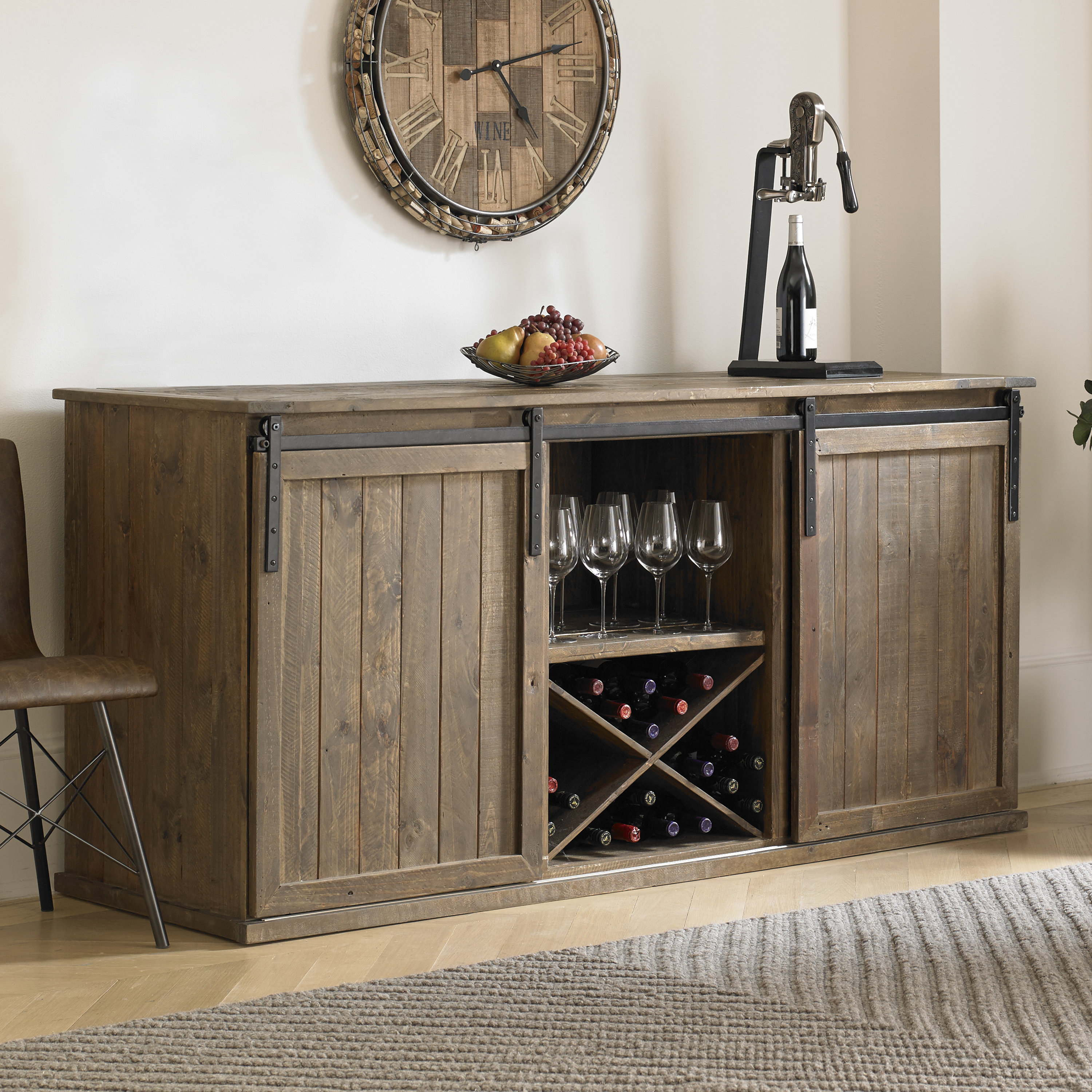Small Credenza With Doors | Wayfair Within Latest Candace Door Credenzas (#18 of 20)