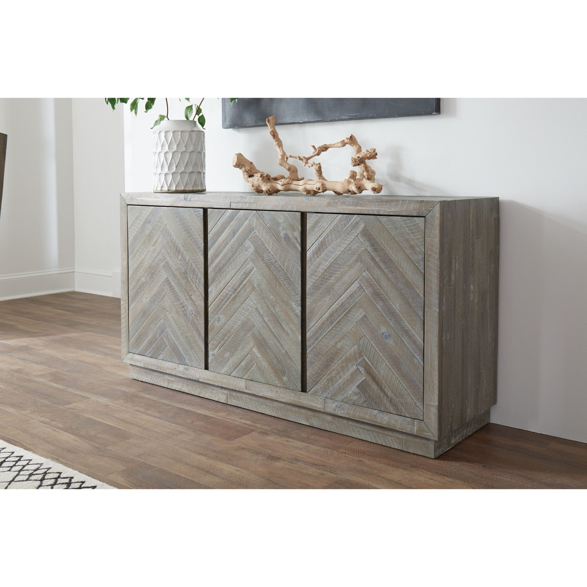 Staton Herringbone Pattern Wooden Sideboard Pertaining To 2017 Barr Credenzas (#20 of 20)
