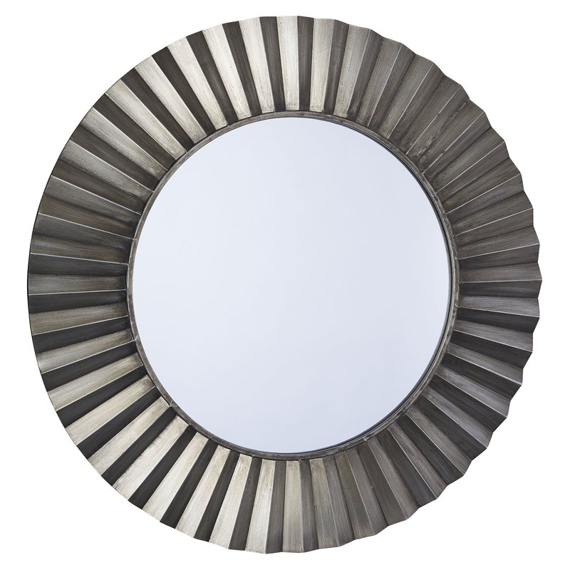 Sunburst Round Wall Mirror Intended For Lidya Frameless Beveled Wall Mirrors (#19 of 20)
