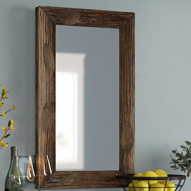 Tahara Rustic Wall Mirror With Regard To Berinhard Accent Mirrors (#16 of 20)
