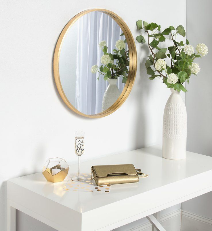 Tanner Accent Mirror | New Apartment | Round Wood Mirror Regarding Tanner Accent Mirrors (#18 of 20)