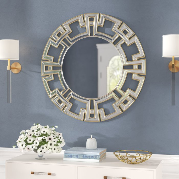 Tata Openwork Round Wall Mirror Intended For Tata Openwork Round Wall Mirrors (#13 of 20)