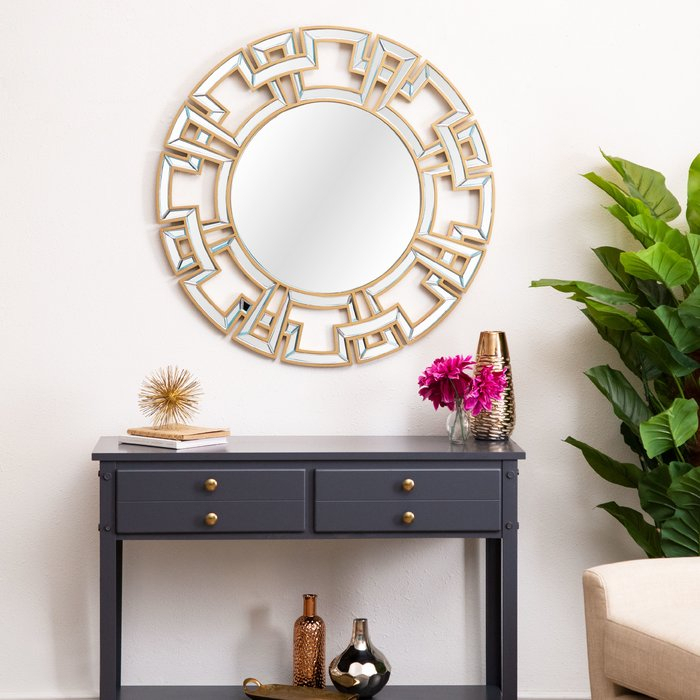 Inspiration about Tata Openwork Round Wall Mirror With Tata Openwork Round Wall Mirrors (#9 of 20)