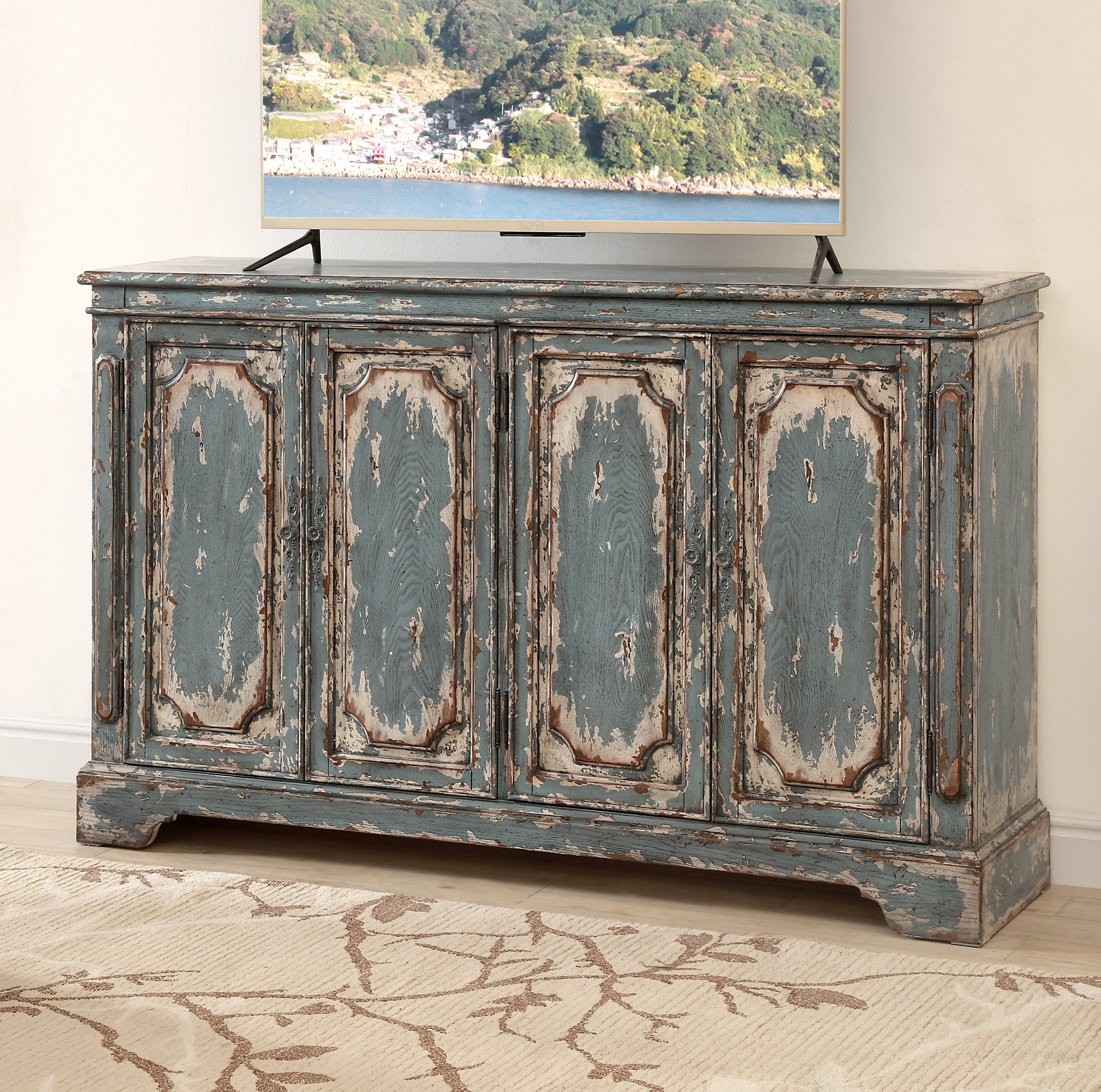 Inspiration about Teal Credenza | Wayfair In Newest Stephen Credenzas (#9 of 20)