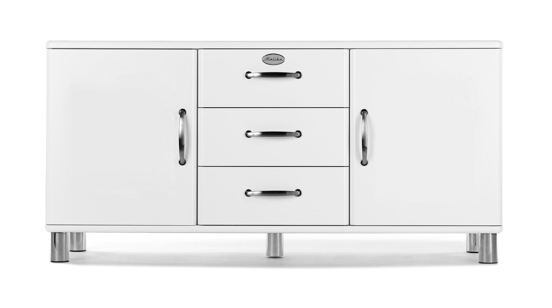 Tenzo – Sideboard Malibu 2 | Tenzo Möbel | Kommode Vintage Pertaining To 2017 Malibu 2 Door 1 Drawer Sideboards (View 8 of 20)