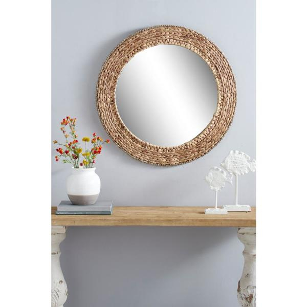 Inspiration about Thatcher 36 In. Round Metal Wall Mirror Intended For Kinley Accent Mirrors (#19 of 20)