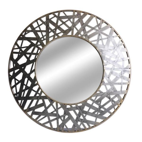 Inspiration about Thatcher 36 In. Round Metal Wall Mirror Regarding Kinley Accent Mirrors (#15 of 20)