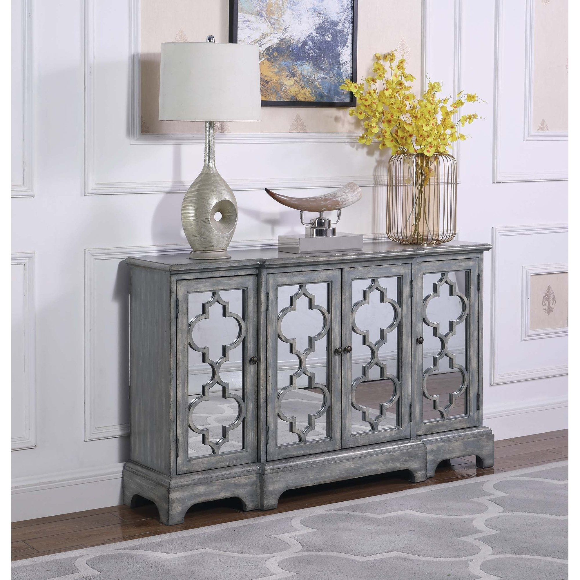 Inspiration about The Gray Barn Grassway Grey 4 Door Accent Cabinet In 2019 Regarding Best And Newest Alkmene Sideboards (#15 of 20)