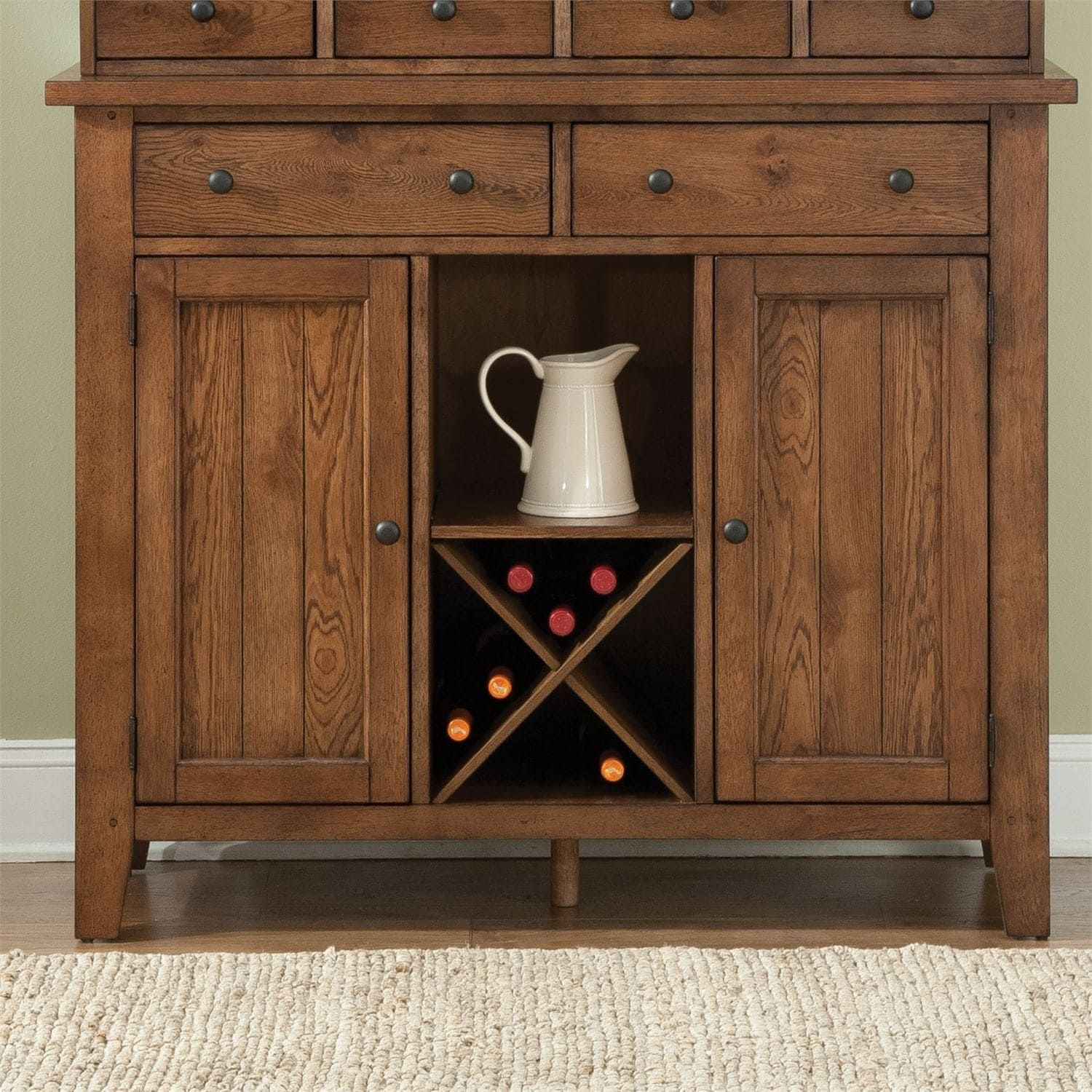 Inspiration about The Gray Barn North Brother Rustic Oak Server, Brown Inside 2017 Colborne Sideboards (#20 of 20)