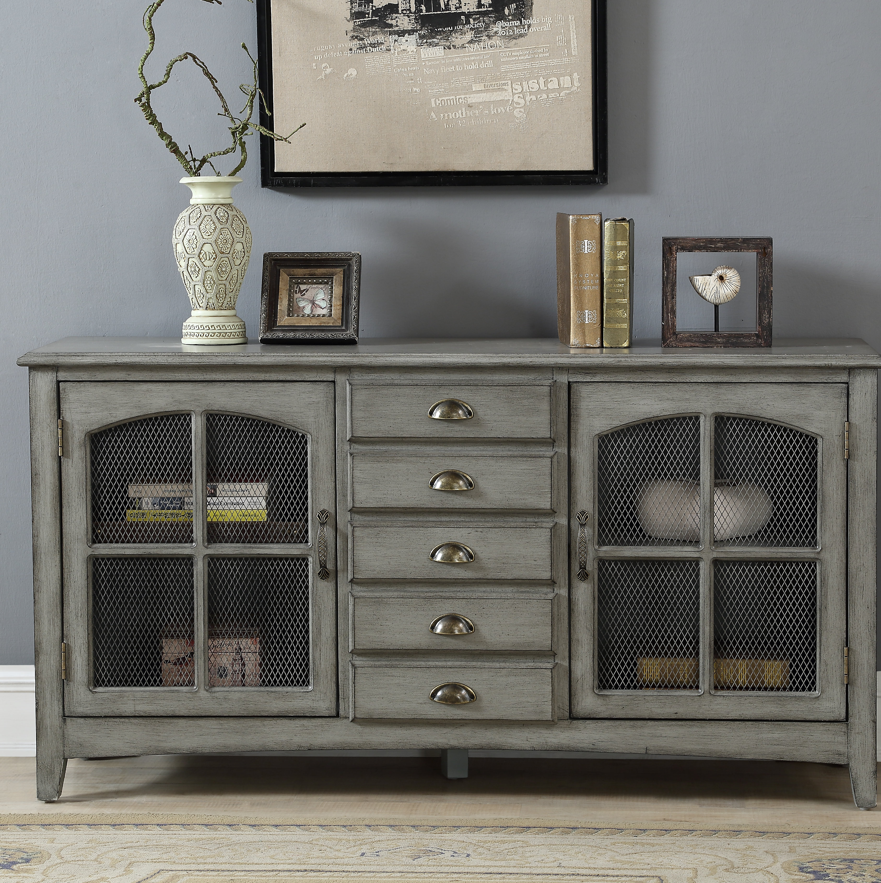 Thin Credenza | Wayfair Intended For Most Popular Stephen Credenzas (View 5 of 20)