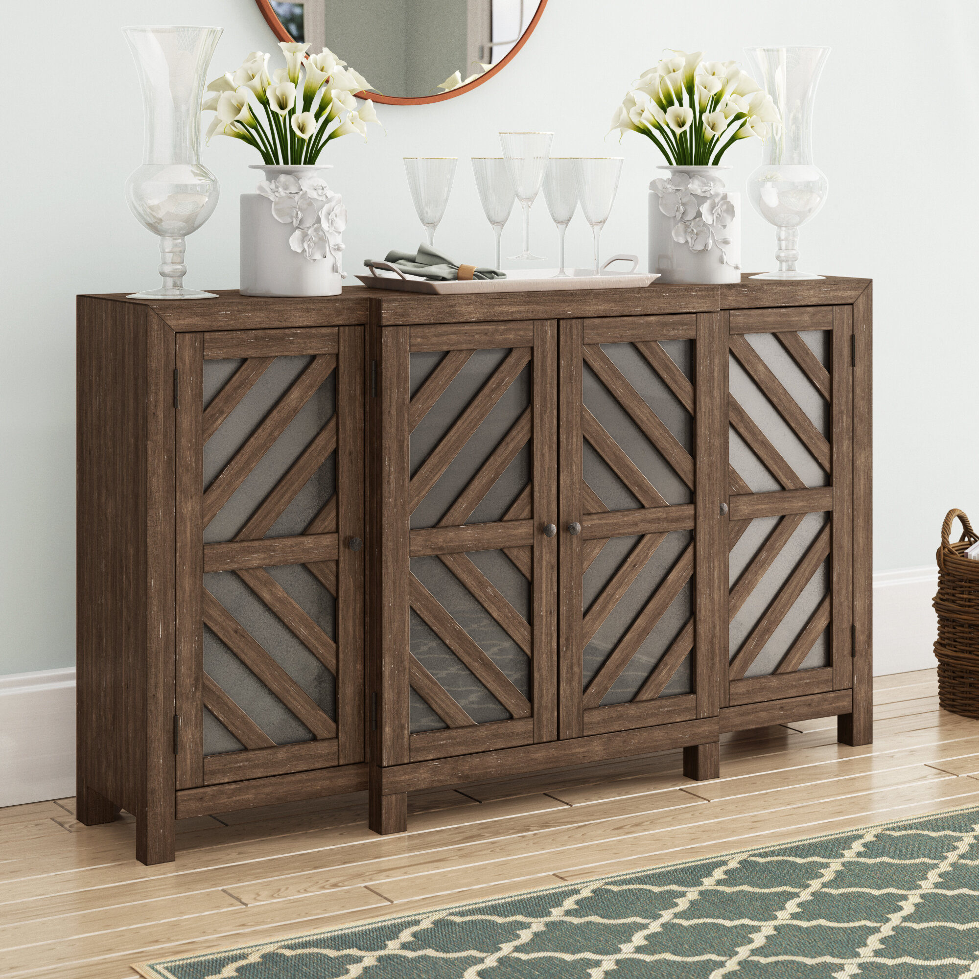 Inspiration about Thin Credenza | Wayfair Throughout Most Up To Date Stephen Credenzas (#1 of 20)