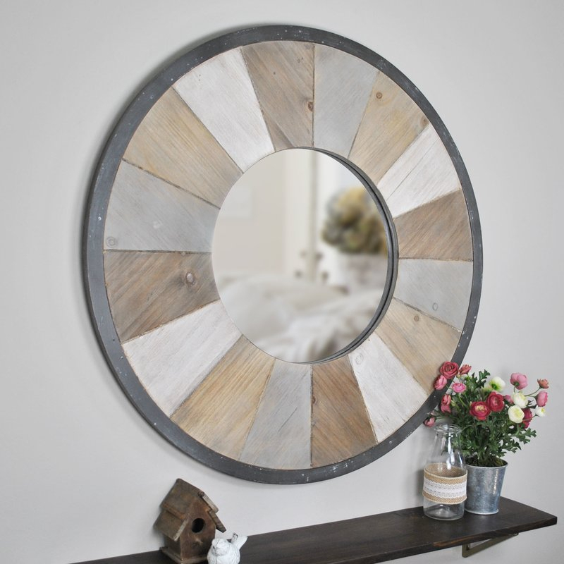 Inspiration about Tisbury Rustic Accent Mirror For Wood Accent Mirrors (#5 of 20)
