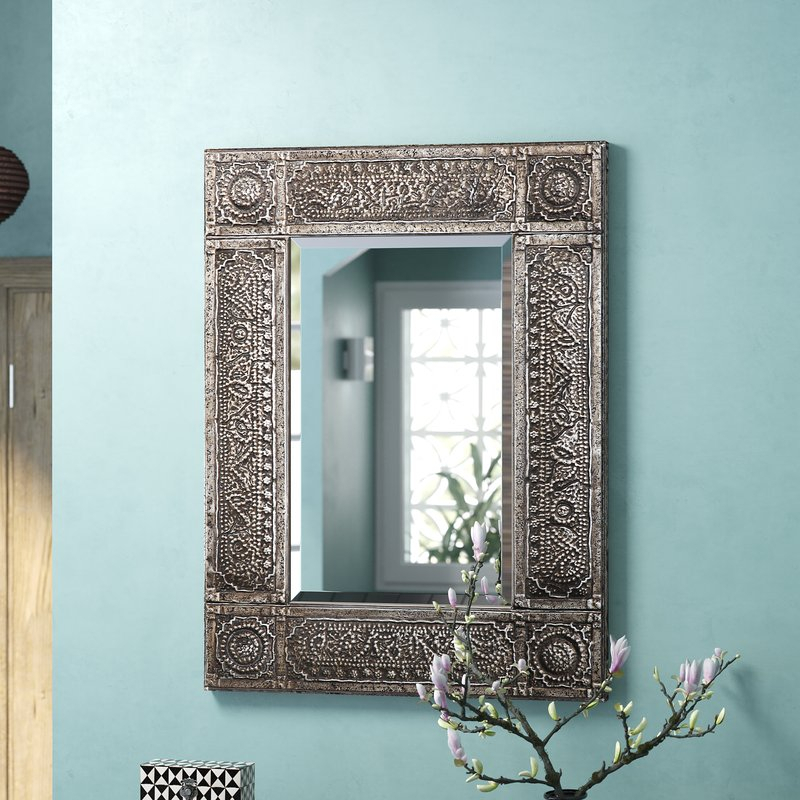 Traditional Beveled Distressed Accent Mirror Intended For Traditional Beveled Accent Mirrors (#15 of 20)