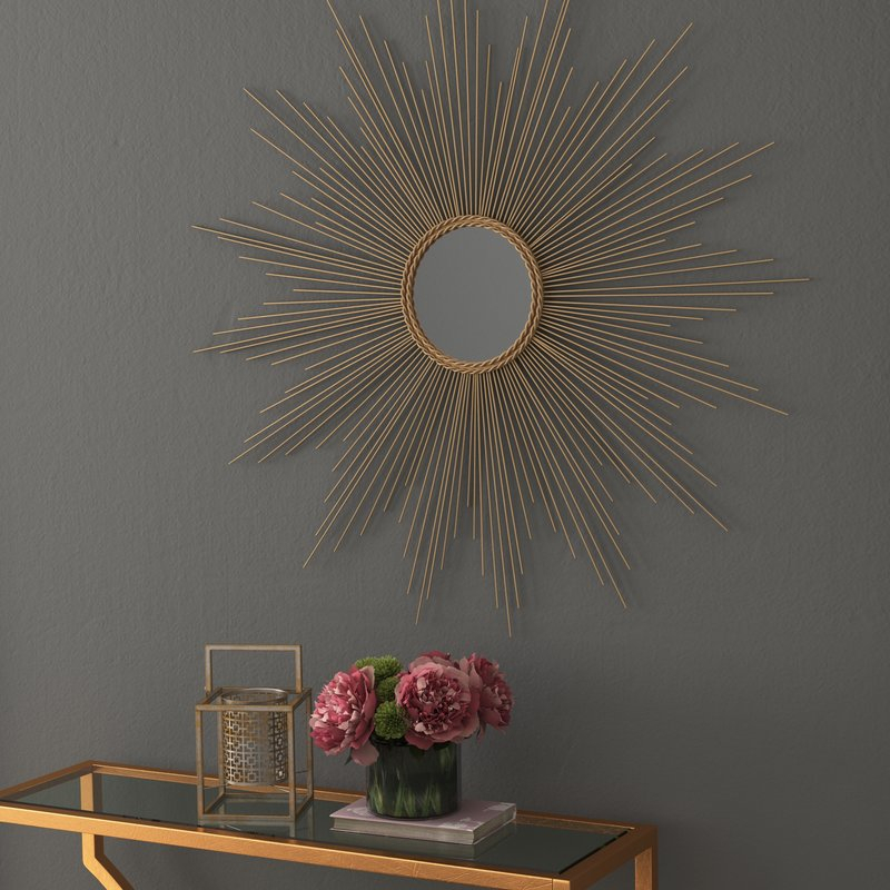 Traditional Metal Wall Mirror Regarding Traditional Metal Wall Mirrors (#14 of 20)