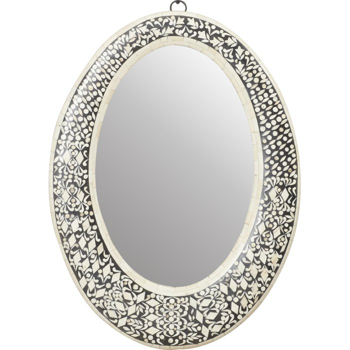 Traditional Oval Wall Mirror Inside Sajish Oval Crystal Wall Mirrors (#15 of 20)