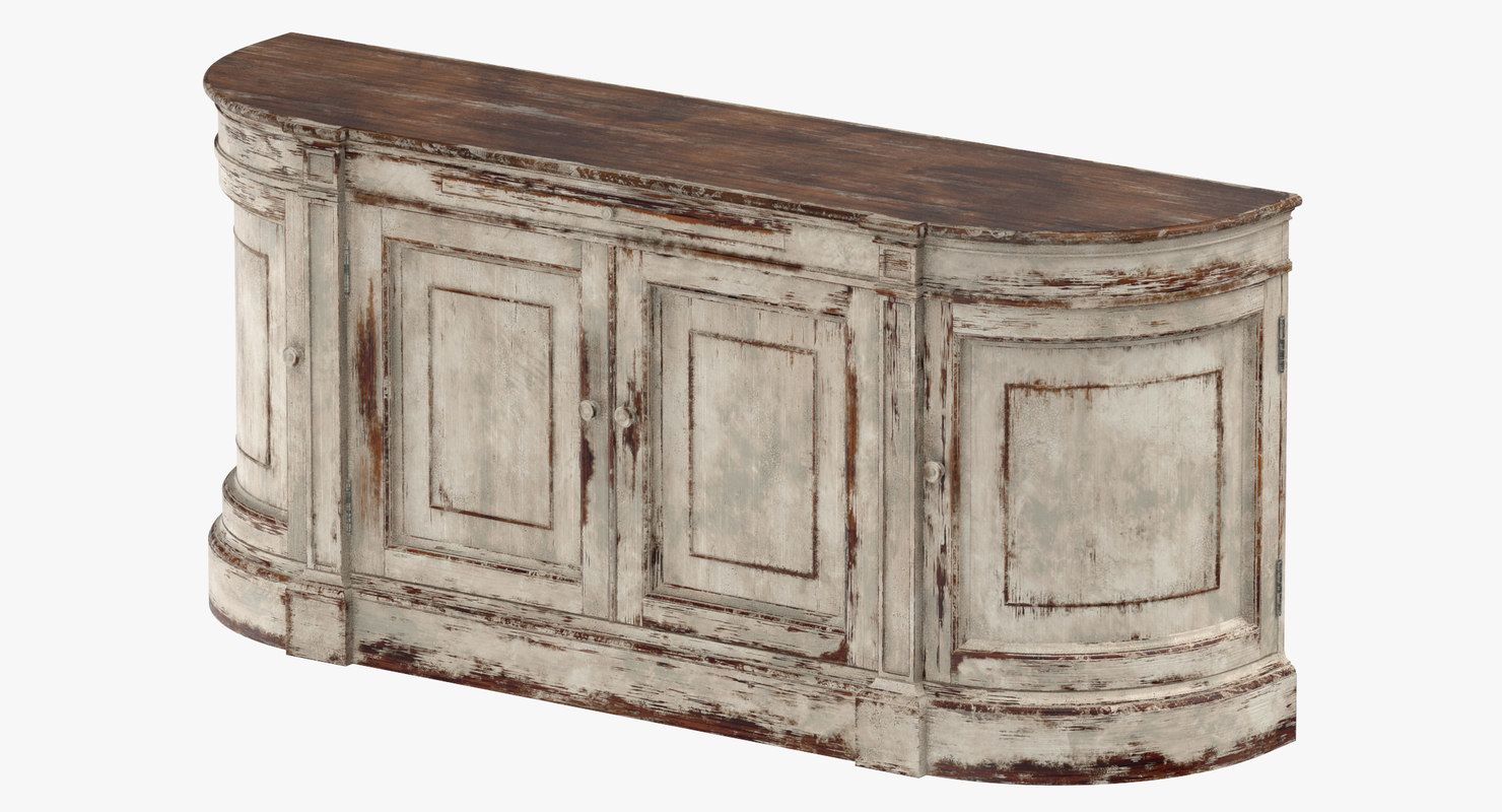 Traditional Sideboard 3D Model | 3D Furniture | Sideboard Throughout Most Current Ilyan Traditional Wood Sideboards (#18 of 20)