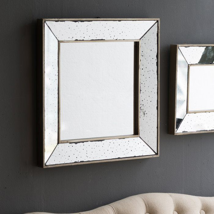 Traditional Square Glass Wall Mirror In 2019 | Spencer's Within Traditional Square Glass Wall Mirrors (#12 of 20)
