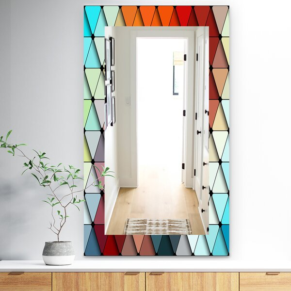 Inspiration about Triangular Colourfields Modern And Contemporary Frameless Bathroom/vanity  Mirror Intended For Sajish Oval Crystal Wall Mirrors (#12 of 20)