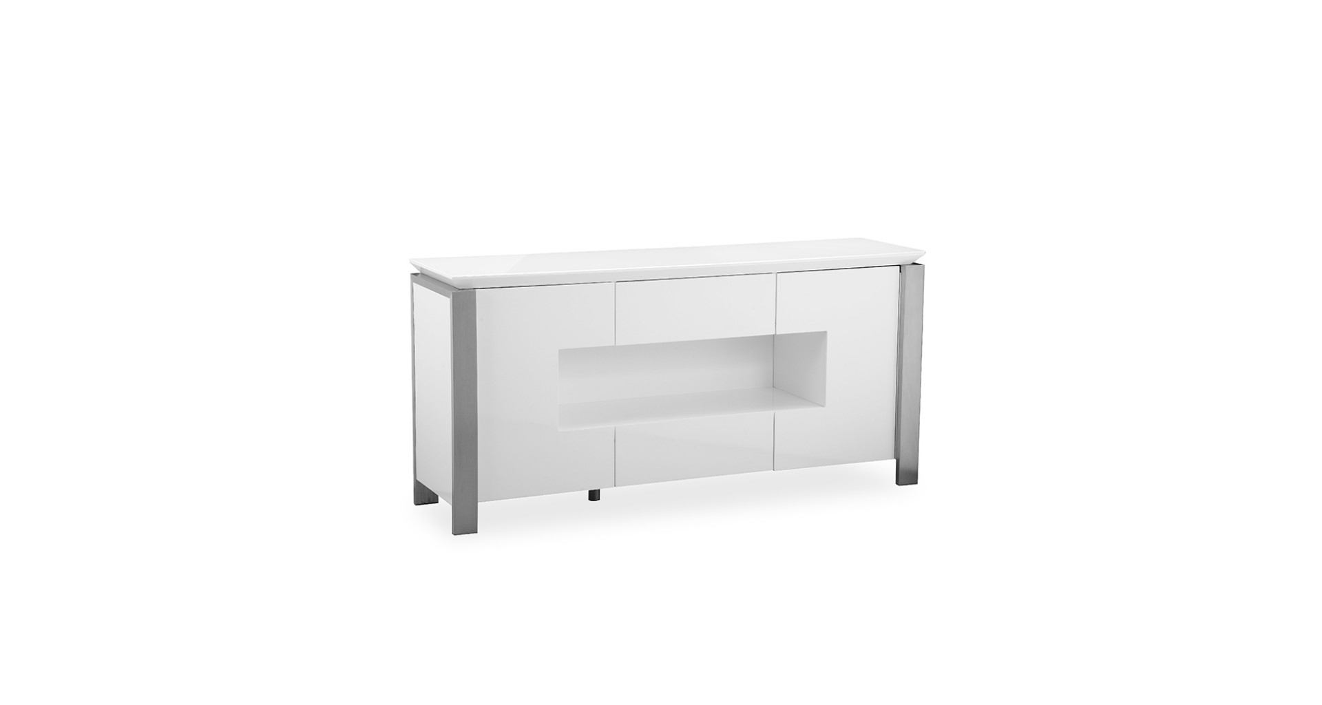 Inspiration about Tribeca – L.e.d. Display Sideboard – White High Gloss Inside Latest Tribeca Sideboards (#1 of 20)