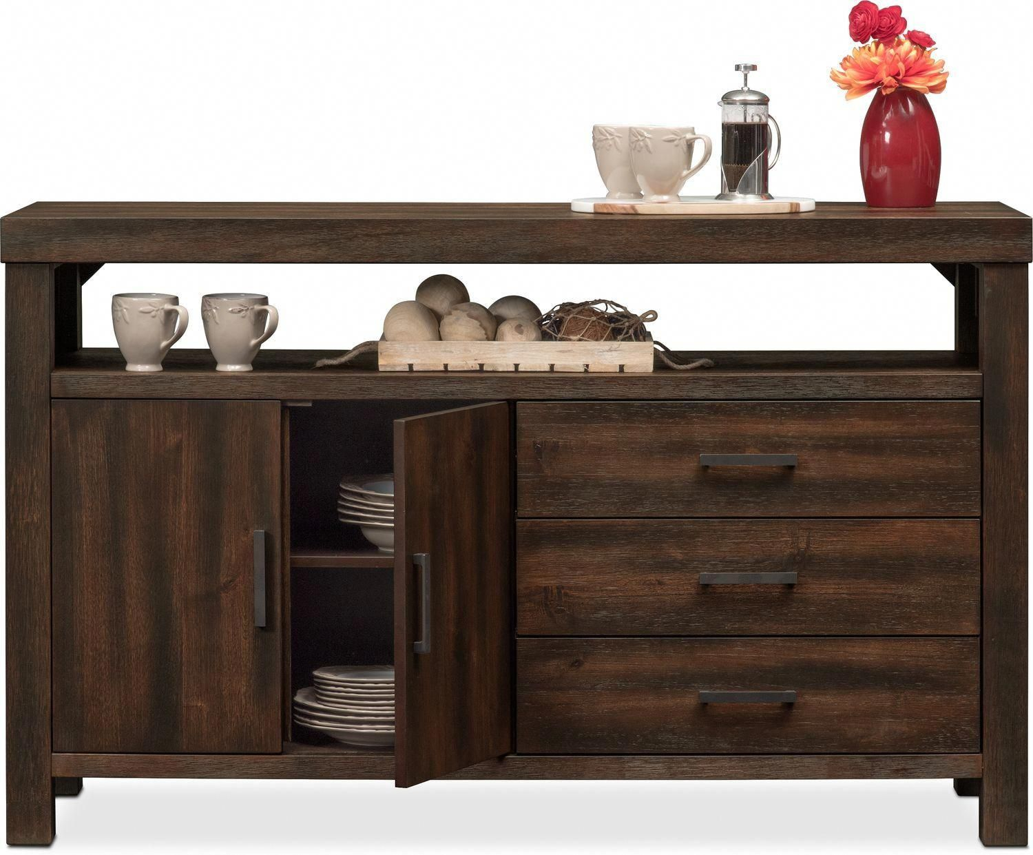 Inspiration about Tribeca Sideboard – Tobacco | Value City Furniture And Inside Most Current Tribeca Sideboards (#7 of 20)