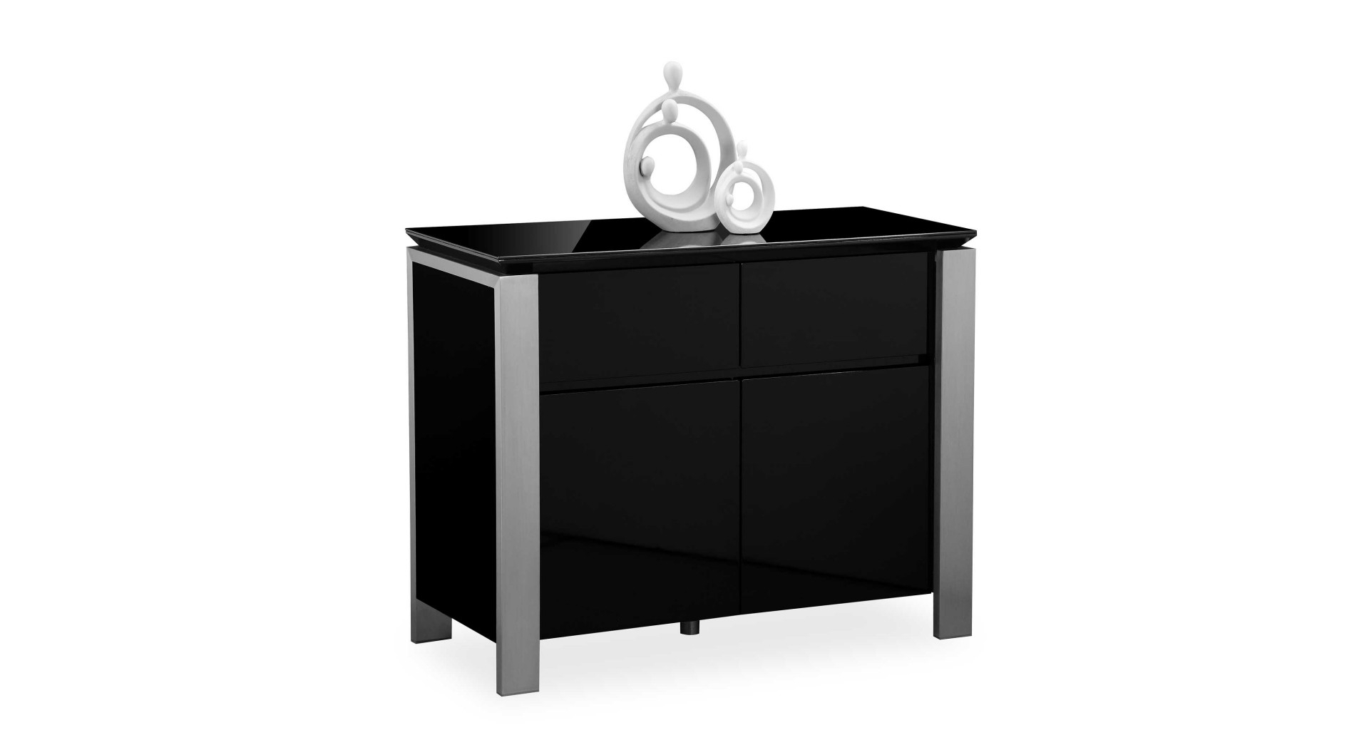 Inspiration about Tribeca – Small Sideboard – Black High Gloss In Current Tribeca Sideboards (#19 of 20)