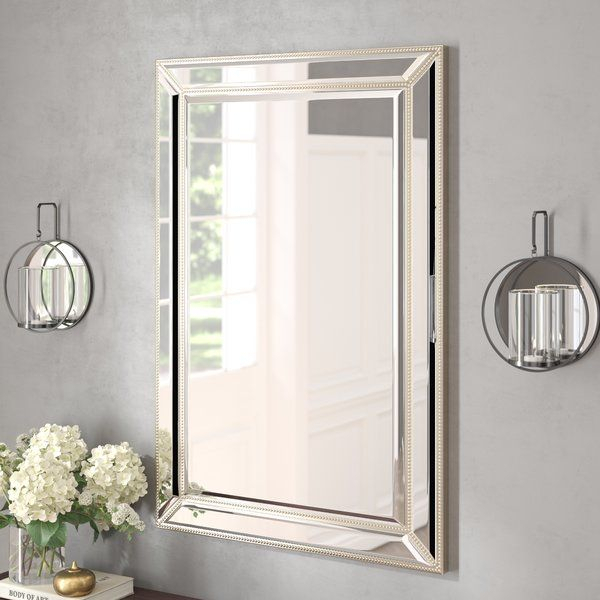 Tutuala Traditional Beveled Accent Mirror In 2019 Intended For Traditional Square Glass Wall Mirrors (#18 of 20)