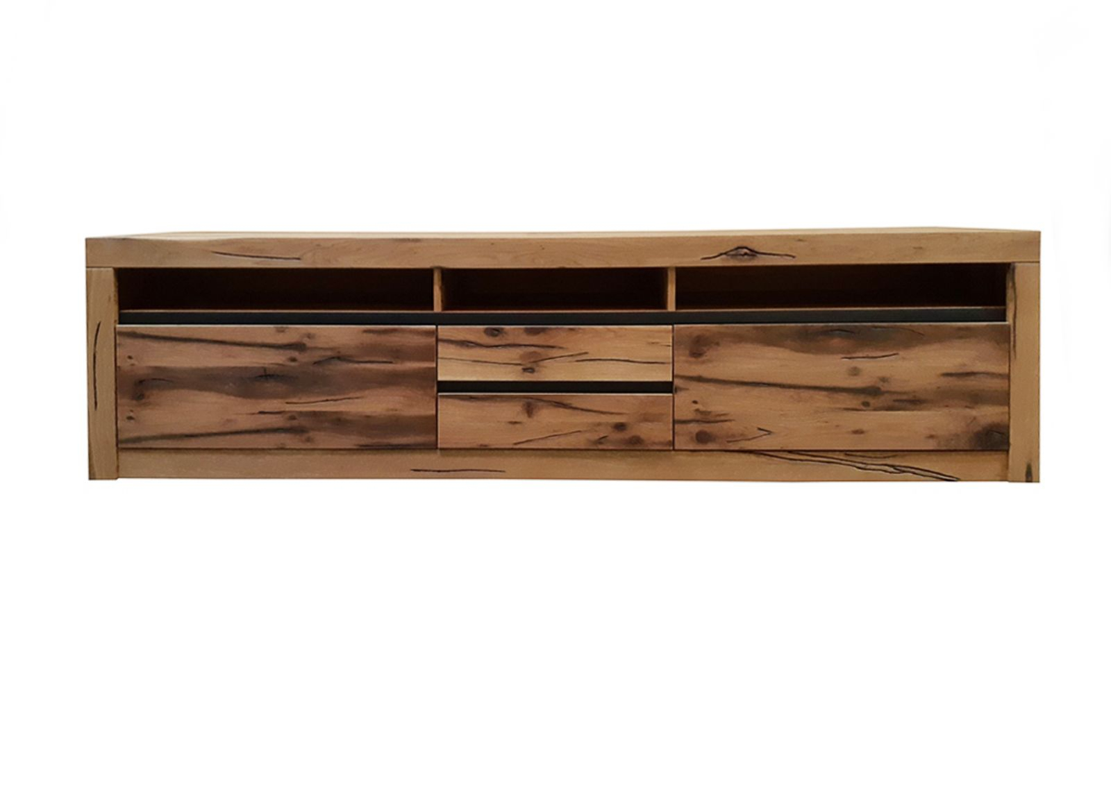 Tv Lowboard Sideboard Tv Board Wildeiche 220X50X55 Natur Geölt Montreux #040 Modern Pertaining To 2017 Lola Sideboards (View 20 of 20)
