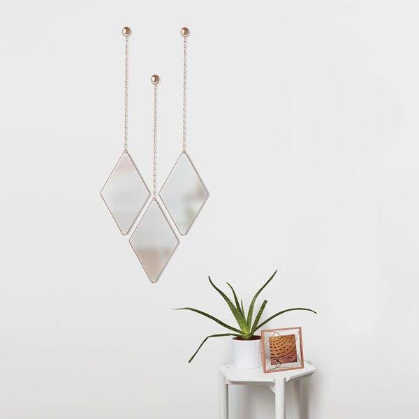 Umbra Dima Mirror Set – Copper | Copper/rose Room Regarding 3 Piece Dima Hanging Modern & Contemporary Mirror Sets (#19 of 20)