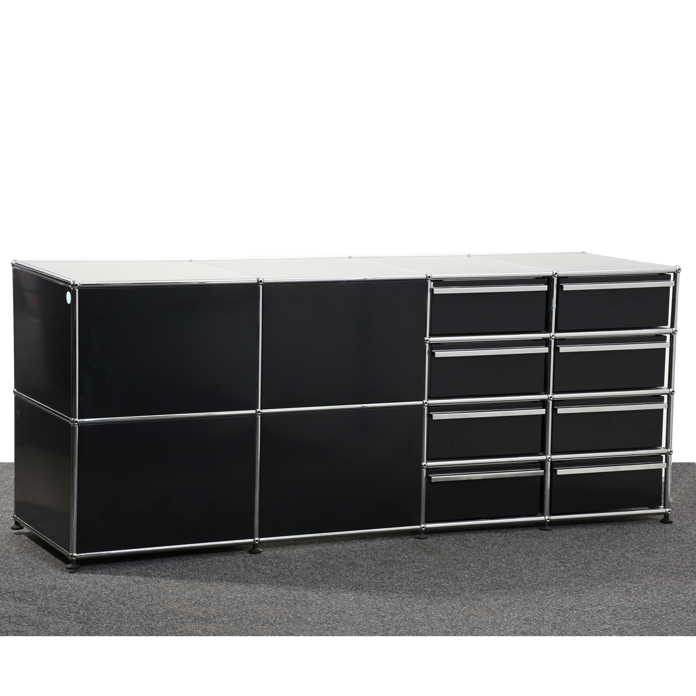 Inspiration about Usm Haller, Sideboard Mit Schubladen & Offene Fächer, Schwarz/chrom, 36377 Regarding Most Recent Cher Sideboards (#12 of 20)