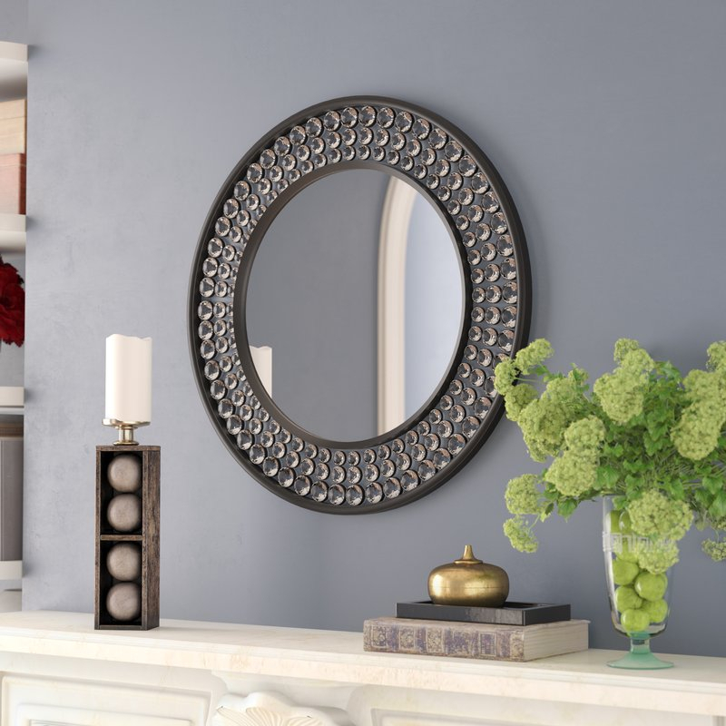 Inspiration about Valerian Jeweled Round Wall Mirror Pertaining To Point Reyes Molten Round Wall Mirrors (#20 of 20)
