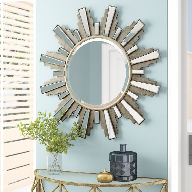 Inspiration about Varvara Modern And Contemporary Beveled Accent Mirror In Brylee Traditional Sunburst Mirrors (#19 of 20)