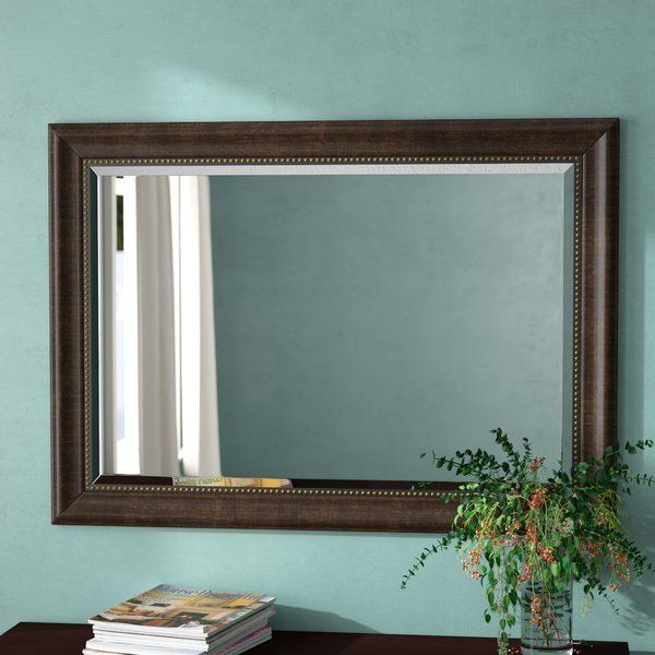 Vassallo Beaded Bronze Beveled Wall Mirror In 2019 | Project Pertaining To Kristy Rectangular Beveled Vanity Mirrors In Distressed (#20 of 20)