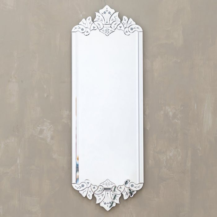 Venetian Wall Mirror – Modern Rectangular Decorative Floral Within Modern Rectangle Wall Mirrors (#18 of 20)
