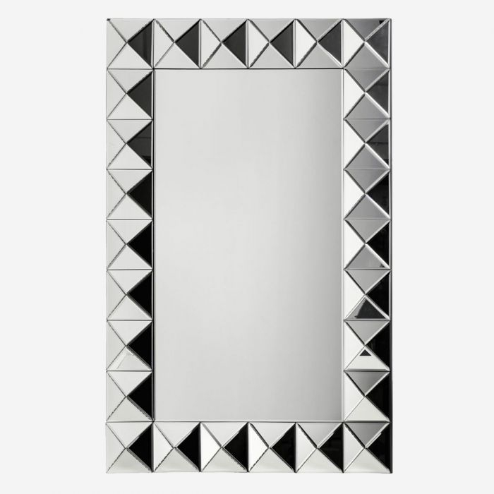 Inspiration about Venetian Wall Mirror – Rectangular Abstract Industrial Modern With Regard To Industrial Modern & Contemporary Wall Mirrors (#5 of 20)