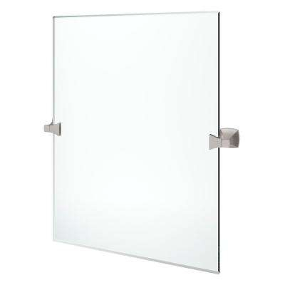 Inspiration about Venturi 22 In. X 26 In. Frameless Pivoting Wall Mirror In Spot Defense  Brushed Nickel For Pfister Oval Wood Wall Mirrors (#13 of 20)