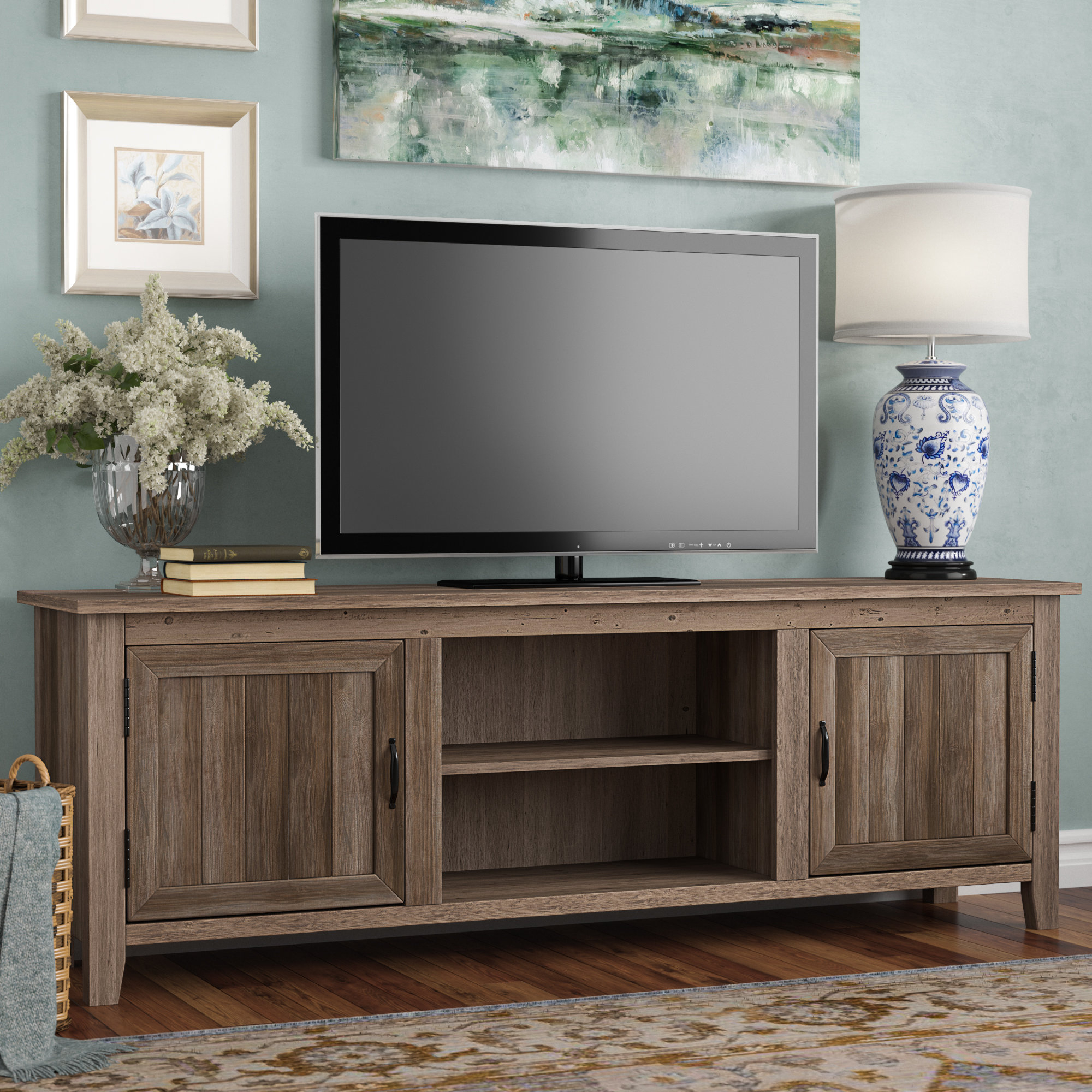 "Inspiration about Vintage Tv Stand | Wayfair With 2017 Colefax Vintage Tv Stands For Tvs Up To 78"" (#6 of 20)"