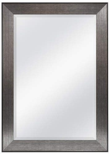 Wade Logan Rectangle Pewter Beveled Wall Mirror | Products Throughout Rectangle Pewter Beveled Wall Mirrors (#20 of 20)