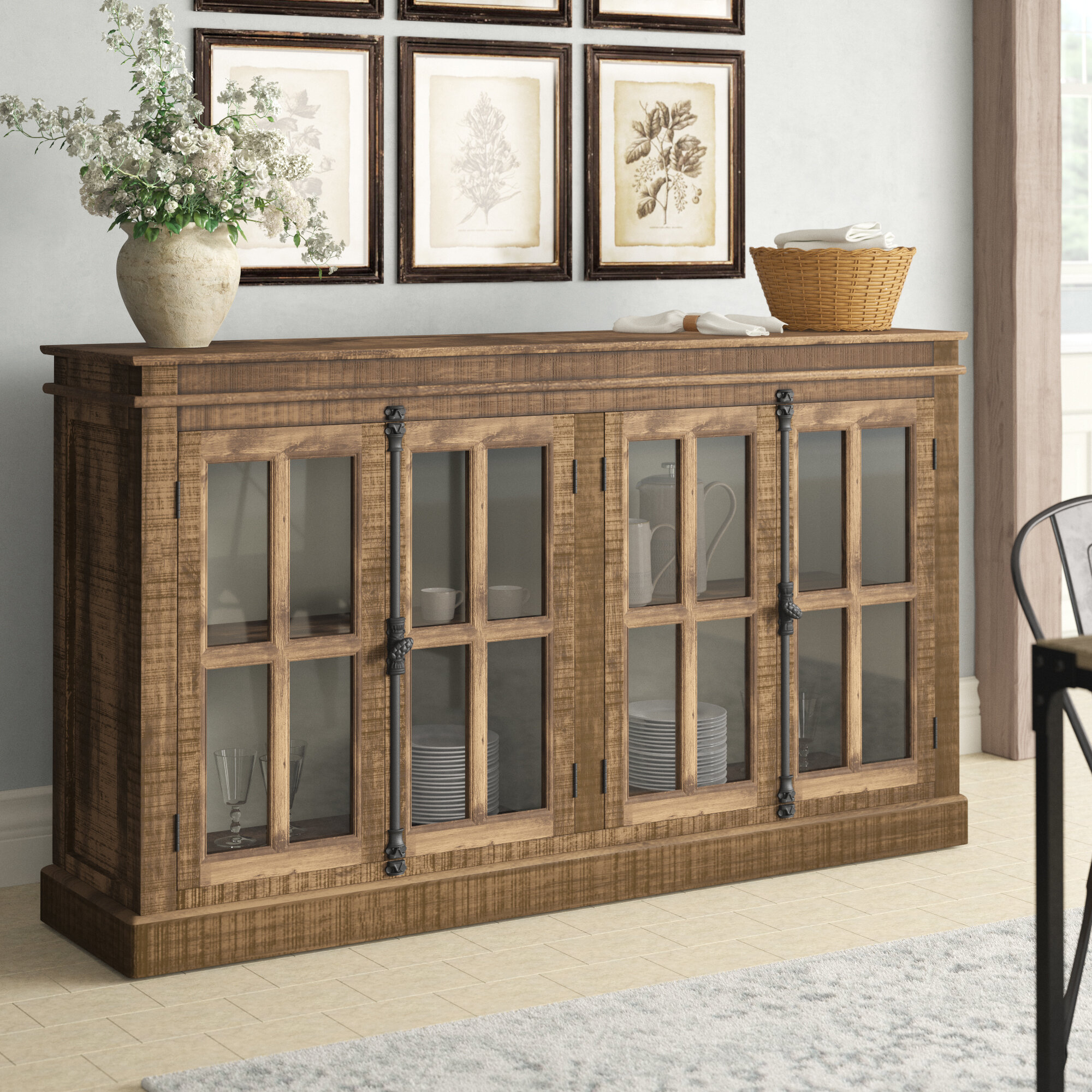 Inspiration about Wadley 4 Door Sideboard With Newest Jessenia Sideboards (#5 of 20)