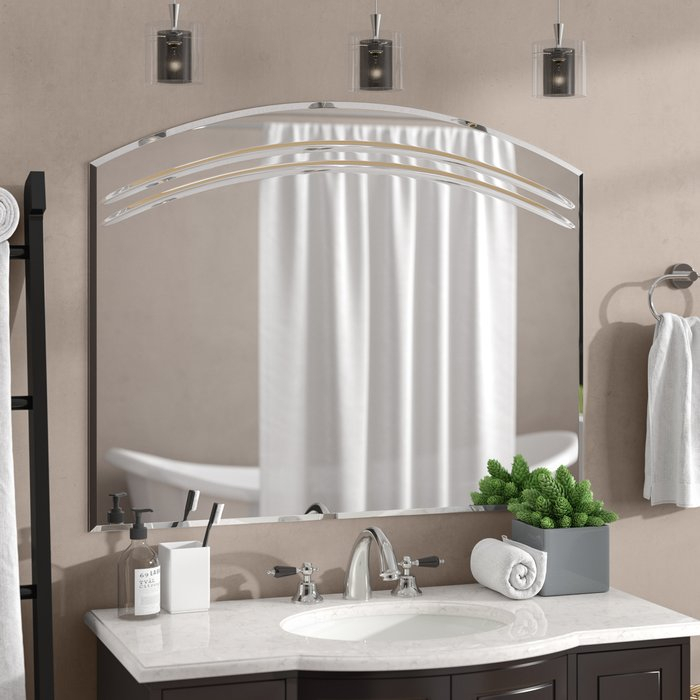 Popular Photo of Wallingford Large Frameless Wall Mirrors