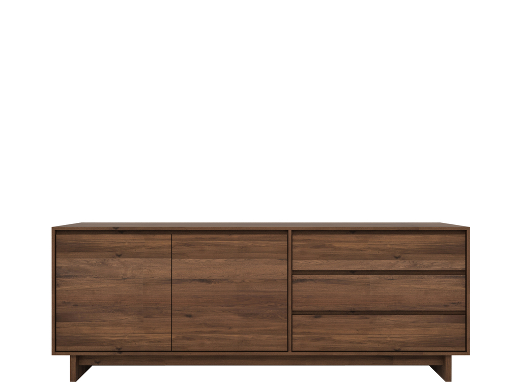 Wave Walnut Sideboard For Most Current South Miami Sideboards (View 20 of 20)