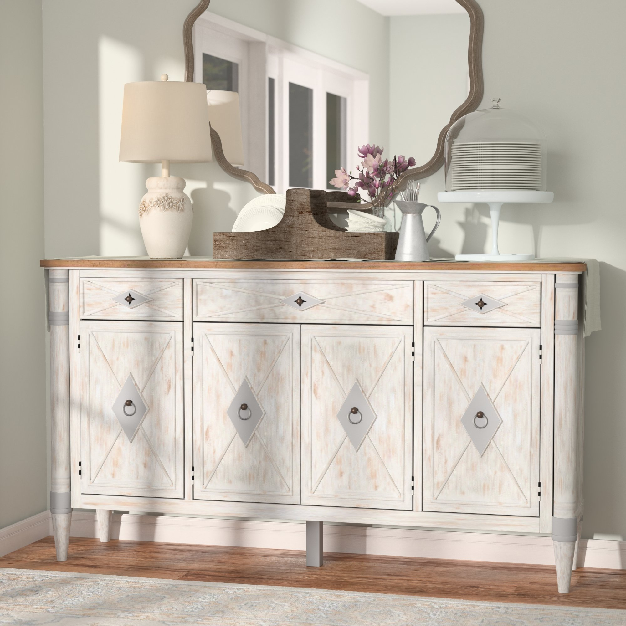 Weathered Gray Sideboard | Wayfair With Newest Cazenovia Charnley Sideboards (#20 of 20)