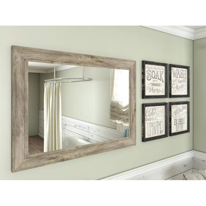 Inspiration about Weathered Gray Wall Mirror – Fefisbaby In Traditional/coastal Accent Mirrors (#15 of 20)