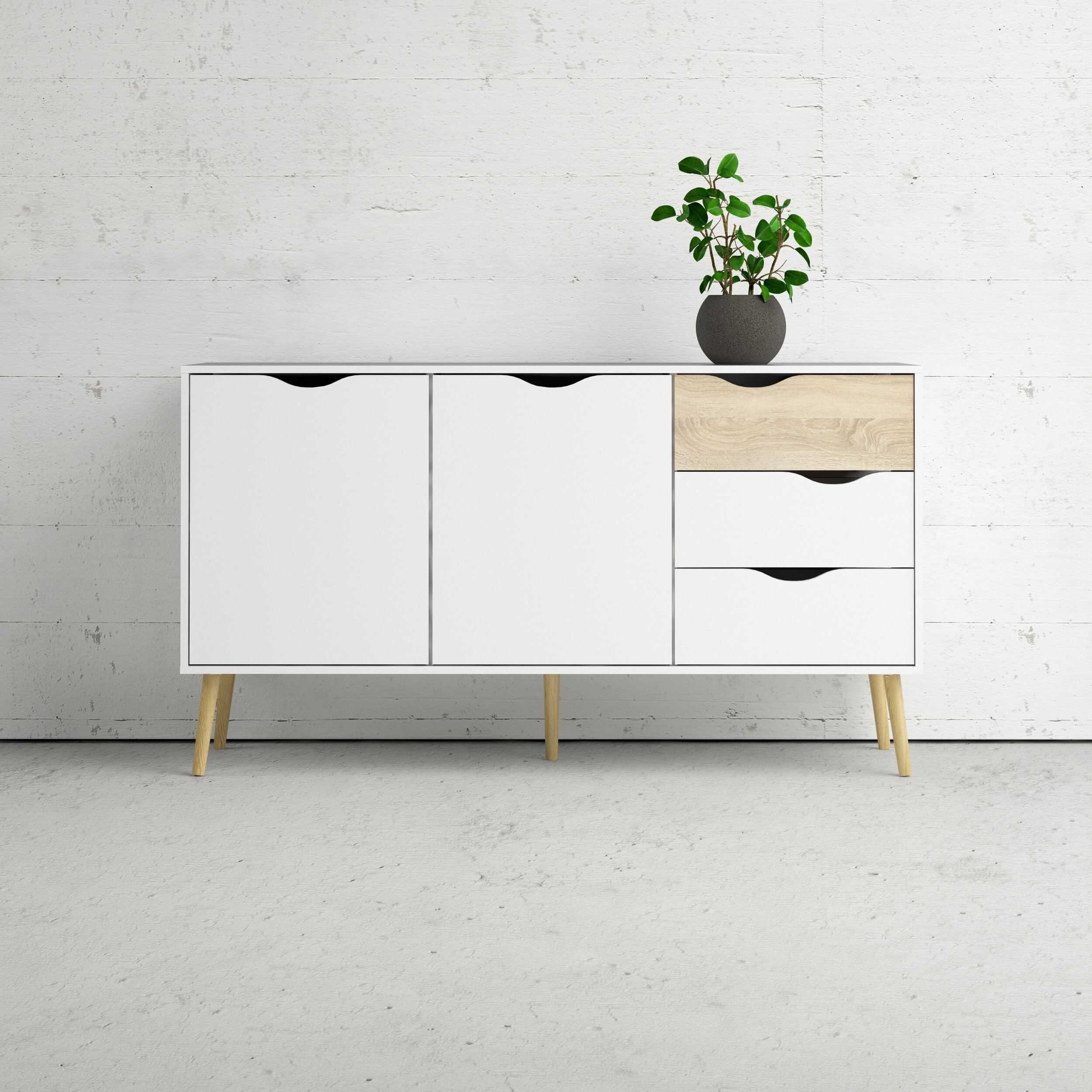 White Credenzas & Sideboards You'll Love In 2019 | Wayfair For Most Current Dowler 2 Drawer Sideboards (#20 of 20)