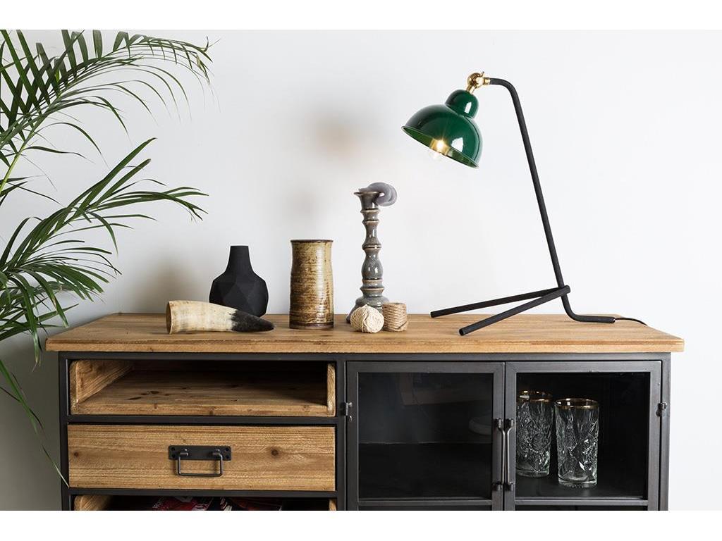 Inspiration about White Label Living Damian Sideboard Industrial Style Mit Glastüren Und Schüben With Regard To 2017 Damian Sideboards (#4 of 20)