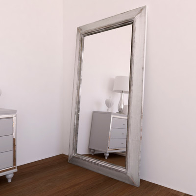 Willa Arlo Interiors Rectangle Timeworn Wall Mirror Intended For Caja Rectangle Glass Frame Wall Mirrors (#20 of 20)