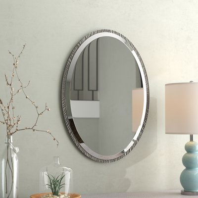 Inspiration about Willa Arlo Interiors Sajish Oval Crystal Wall Mirror | Wayfair In Sajish Oval Crystal Wall Mirrors (#13 of 20)