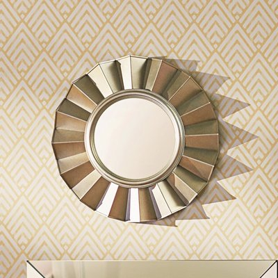 Willa Arlo Interiors Vertical Round Wall Mirror Throughout Deniece Sunburst Round Wall Mirrors (#20 of 20)